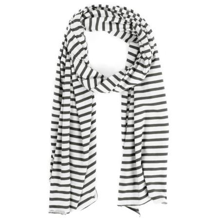 Mama B Tuono Riga Stripe Scarf - Black
