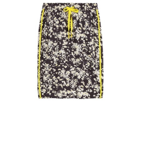 Sandwich Clothing Fitted Floral Skirt - Grey