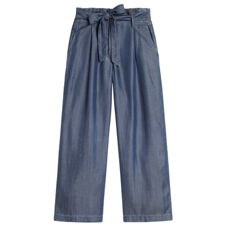 Sandwich Clothing Denim Culotte Trousers - Blue