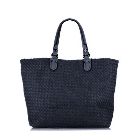 Gemini Label  Carina Weave Shopper - Blue