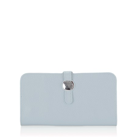 Gemini Label  Nova Leather Purse - Blue