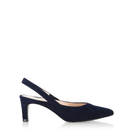 Peter Kaiser Ulima Navy Suede Slingback Shoe - Blue