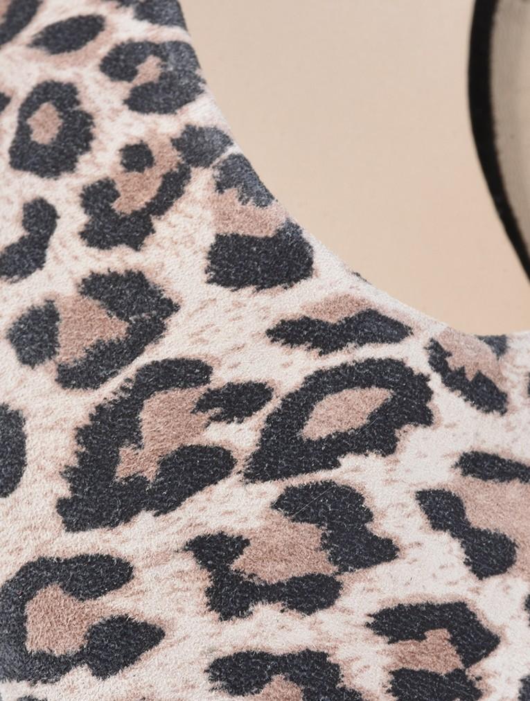 Claudia Leopard Suede Slingback Kitten Heel main image