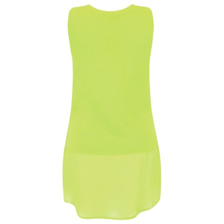 Foil Layered Sleeveless Top - Green