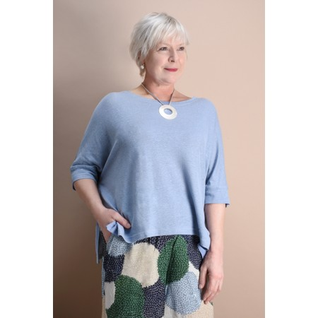Mama B Lago Hemp Top - Blue