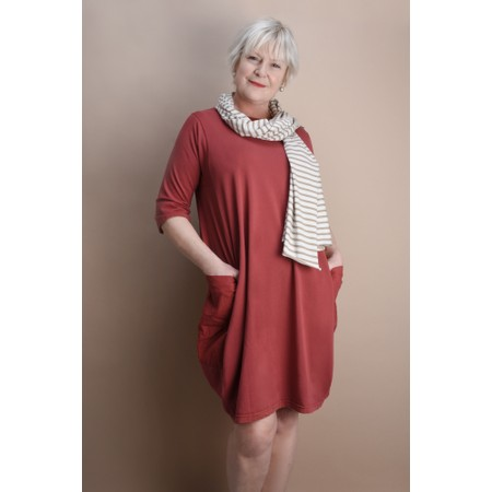 Mama B Golfo Izmir Plain Dress - Red
