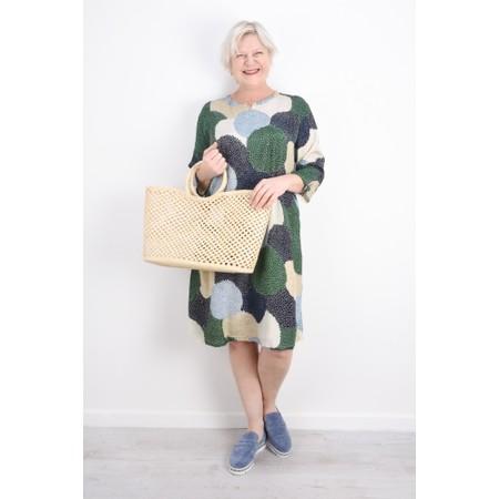 Masai Clothing Nana Allium Print Dress - Blue