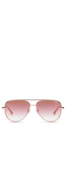Quay Australia High Key Mini Sunglasses Rose Gold