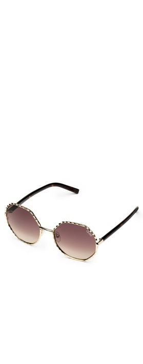 Quay Australia Breeze In Sunglasses Gold/Brown