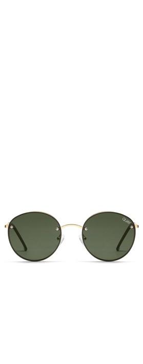 Quay Australia Farrah Sunglasses Gold/Green