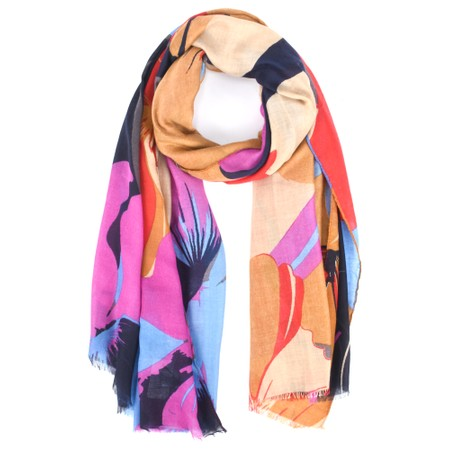 Butterfly Hudie Blossom Floral Print Scarf - Multicoloured