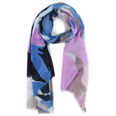 Butterfly Hudie Blossom Floral Print Scarf - Blue