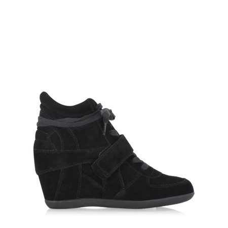 Ash Bowie Wedge Trainer Shoe - Black