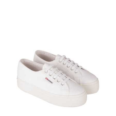 Superga NAPPALEAW Flatform Trainer Shoe - White