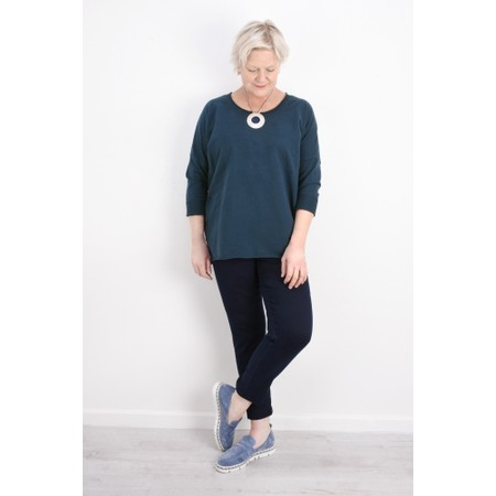 Aisling Dreams Sigge Slub Jersey Relaxed Top - Blue