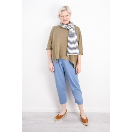 Mama B Tuono Riga Stripe Scarf - Blue