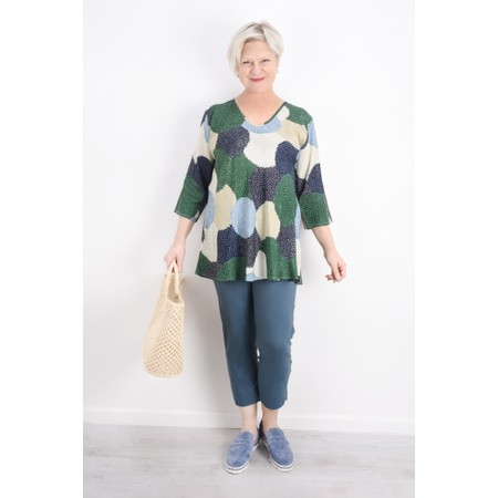 Masai Clothing Kata Allium Print Top - Blue