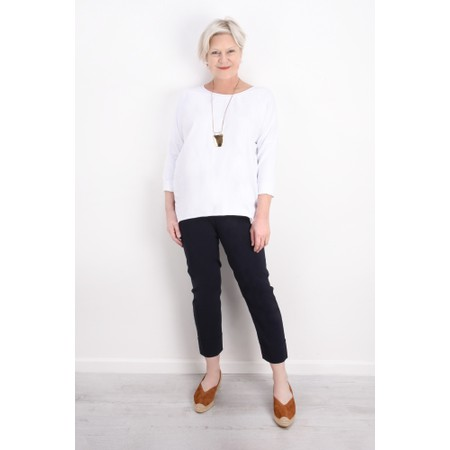 Aisling Dreams Sigge Slub Jersey Relaxed Top - White