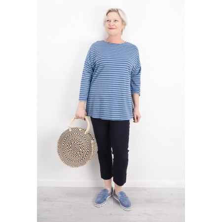 Aisling Dreams Finn Oversized Stripe Top - Blue