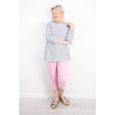 Aisling Dreams Finn Oversized Stripe Top - Blue