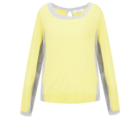 Sandwich Clothing Contrast Side Panel Jumper - Yellow