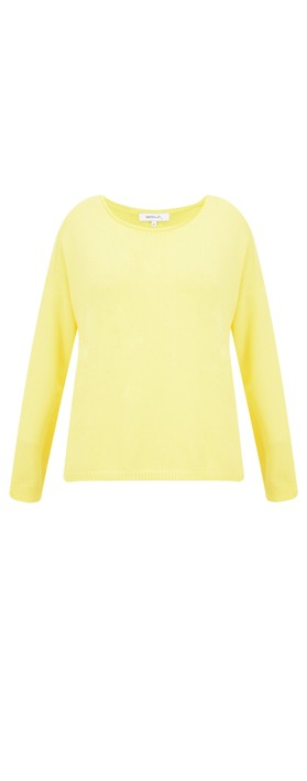 Sandwich Clothing Basic Cotton Jumper Blazing Yellow