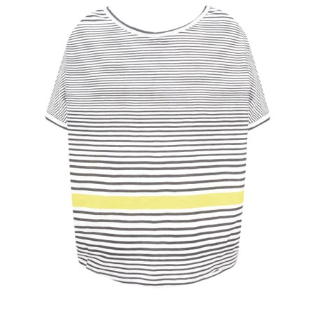 Sandwich Clothing Relaxed Stripe Print Top - White