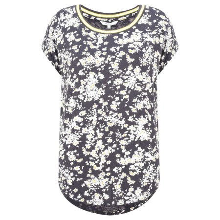 Sandwich Clothing Sporty Floral Top - Grey