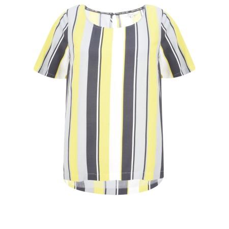 Sandwich Clothing Stripe Print Viscose Top - Yellow