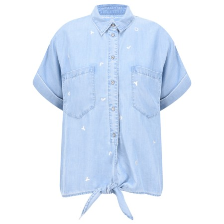Sandwich Clothing Demin Tie Waist Joy Blouse - Blue