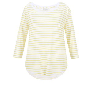 Sandwich Clothing Striped Linen Jersey Top