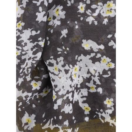 Sandwich Clothing Merci Mille Fois Slogan Floral Scarf - Grey
