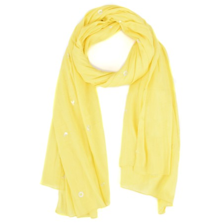 Sandwich Clothing Joy Slogan Cotton Scarf - Yellow
