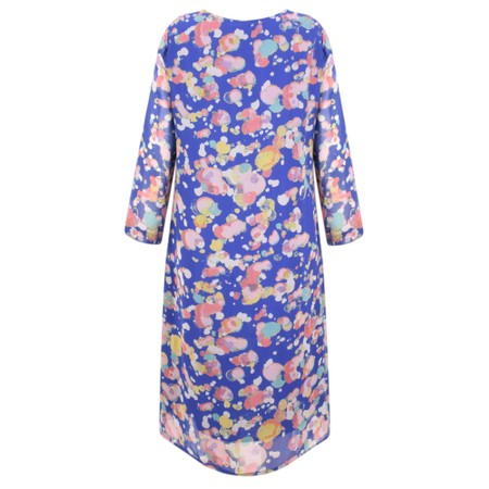 Adini Painters Spot Print Painters Spot Dress - Blue