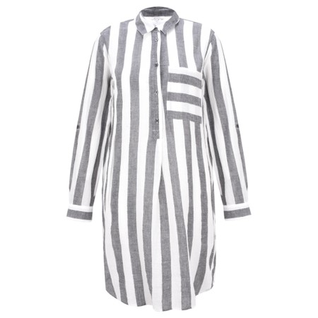Sandwich Clothing Striped Seersucker Blouse - Grey