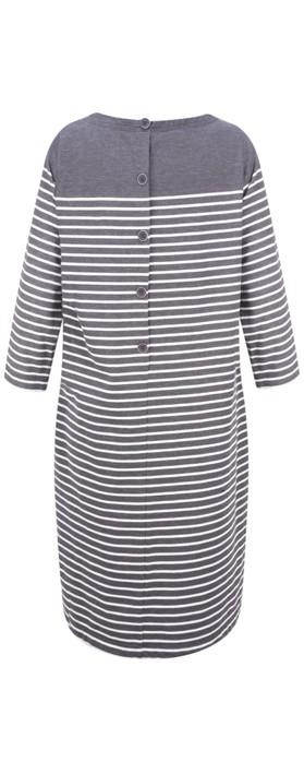 Sandwich Clothing Stripe Print French Terry Dress Iron