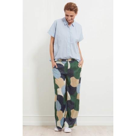Masai Clothing Perinus Allium Print Trouser - Blue