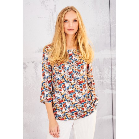 Adini Nadia Print Kendall Blouse - Multicoloured
