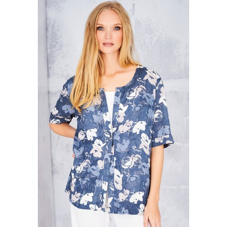 Adini Bridget Print Arabella Blouse - Blue