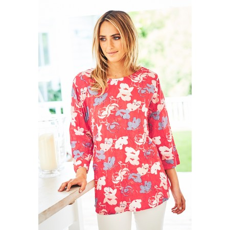 Adini Bridget Print Millie Tunic - Red