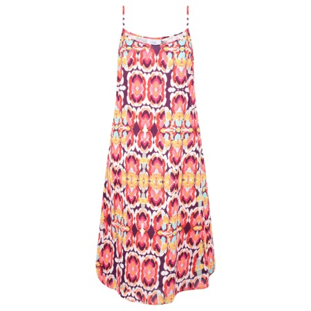 Adini Kiribati Print Pacific Dress - Pink