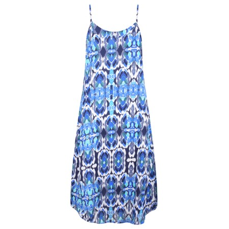 Adini Kiribati Print Pacific Dress - Blue