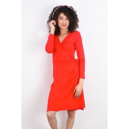 Masai Clothing Neba Wrap Dress - Red