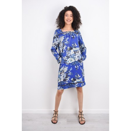 Masai Clothing Floral Nasira Dress - Blue