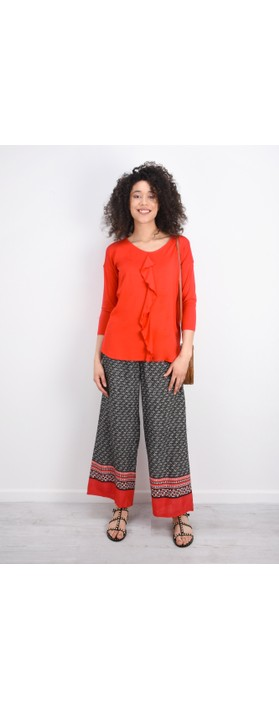 Masai Clothing Perinus Abstract Print Trouser With Border  Chili Org