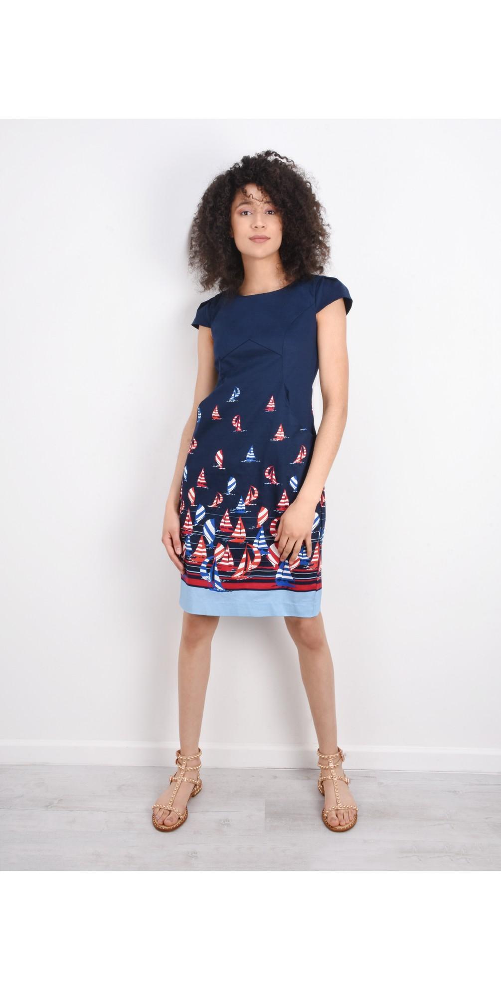 Printed Sail Away Dress main image