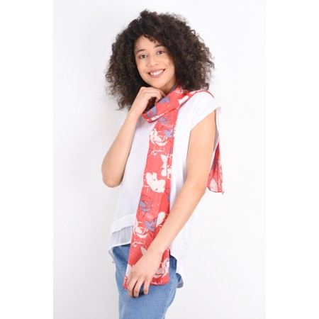Foil Layered Look Silk Front Top - White