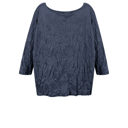 Thing Crinkle Easy Fit Wide Top - Blue