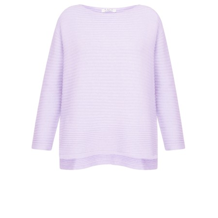 DECK Raegan Supersoft Rib Knit Jumper - Purple