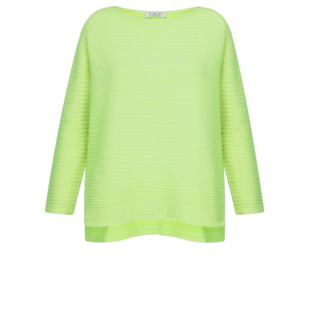 DECK Raegan Supersoft Rib Knit Jumper - Green